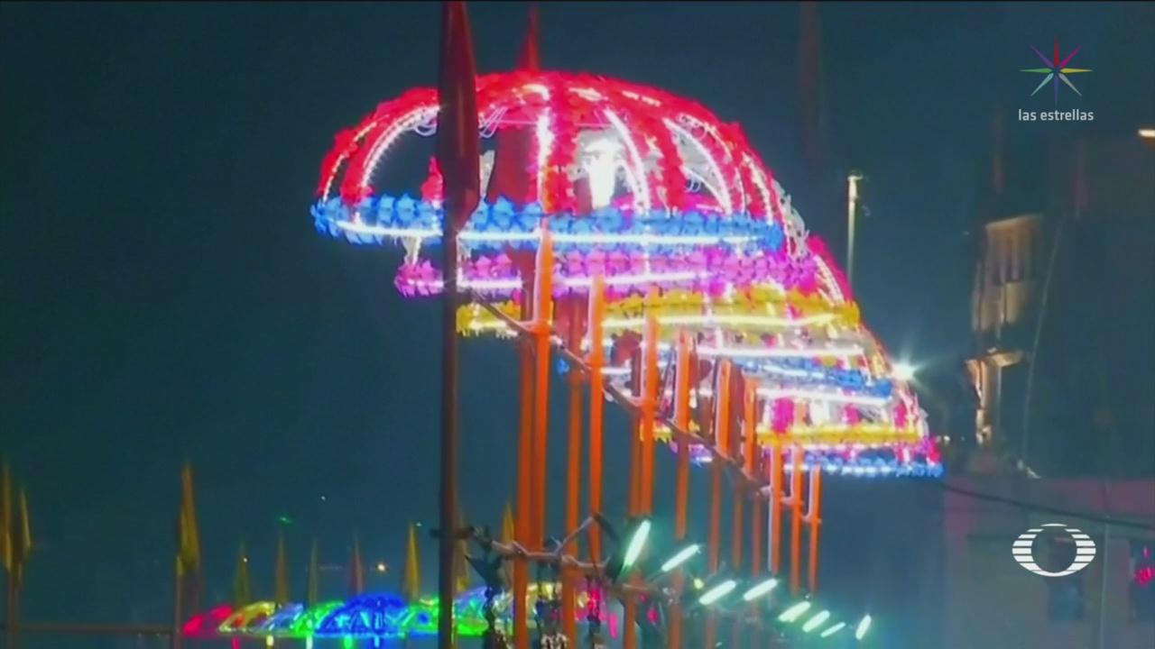 India Celebra Entrada Año Nuevo Festival De Luces