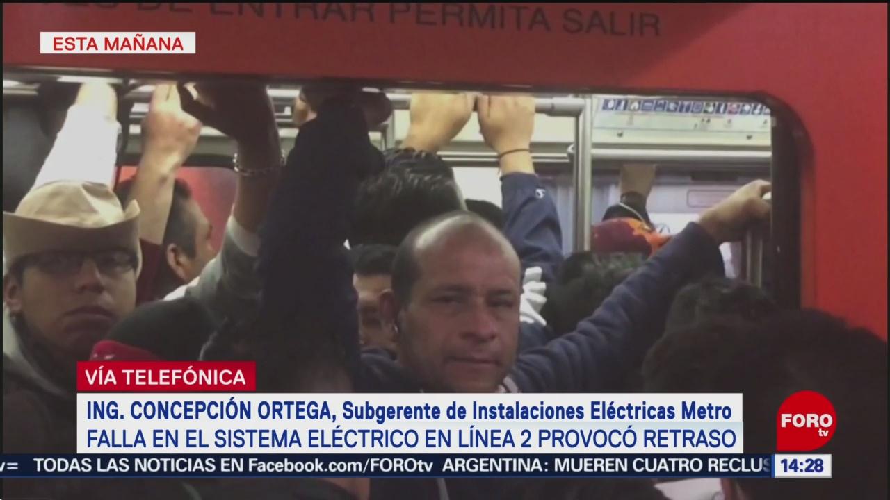 Mantenimiento provocó suspensión de servicio en Línea 2 del Metro CDMX