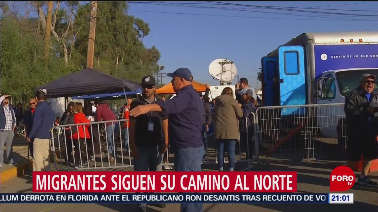 Migrantes siguen su camino al norte del país