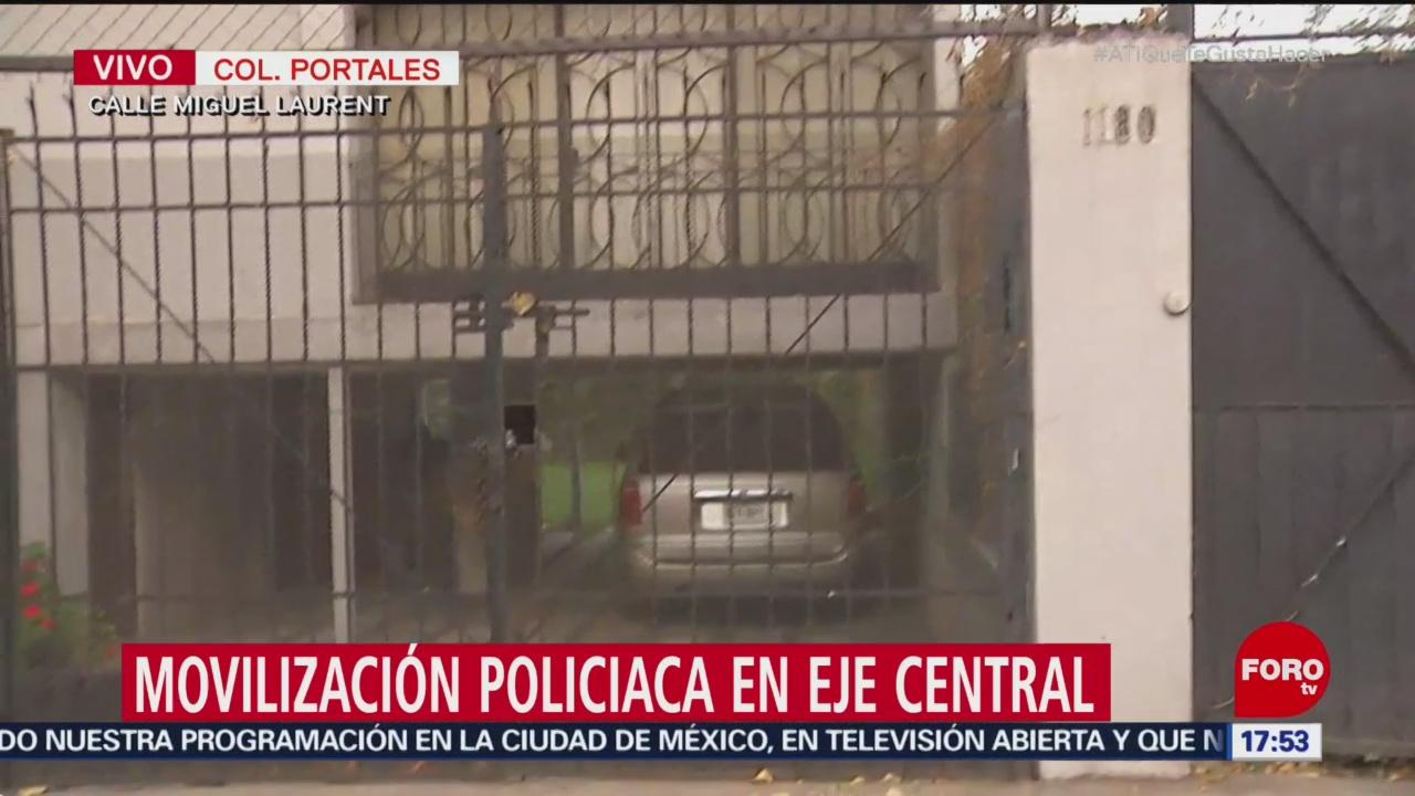 Movilización policiaca por suicidio en la colonia Portales