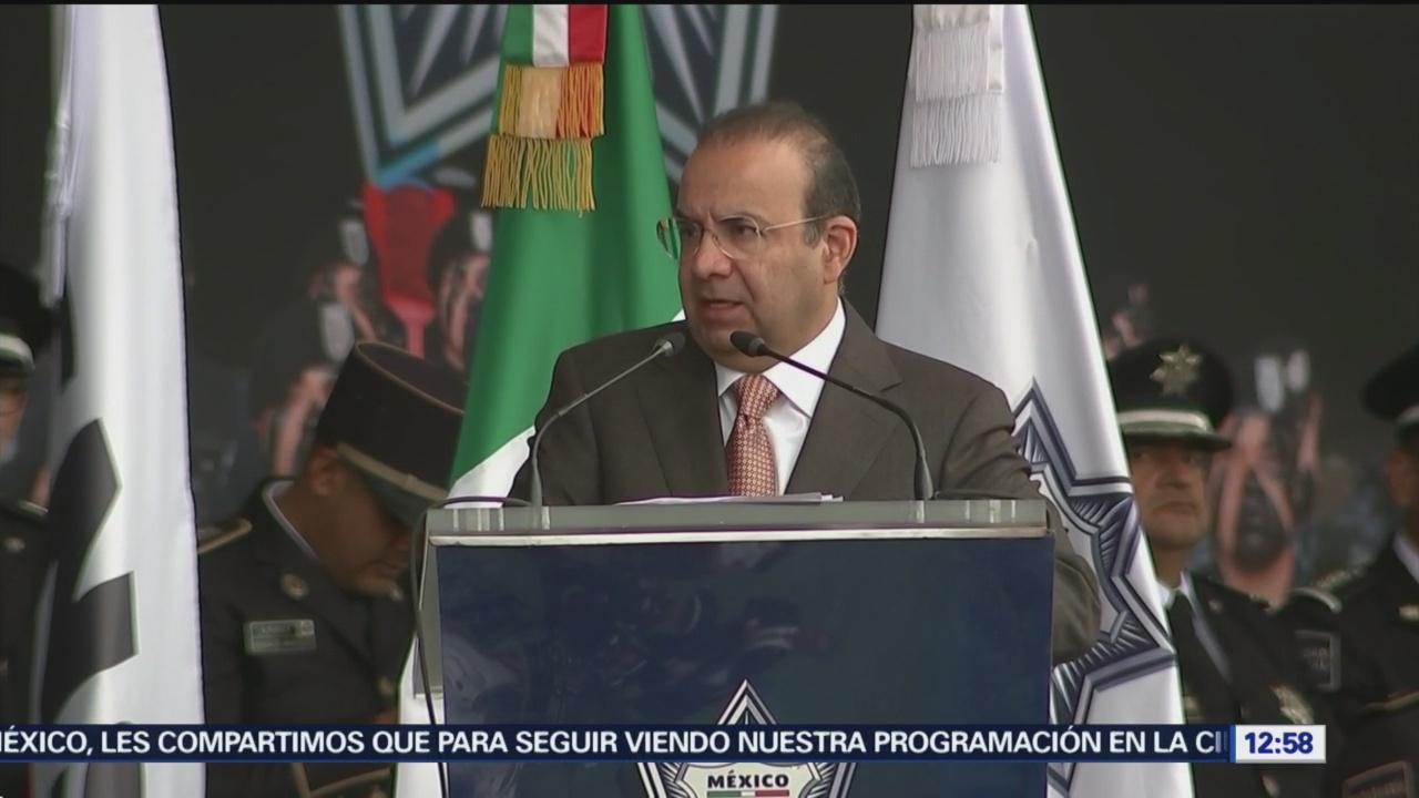 Navarrete Prida agradece a Policía federal por servicio a México