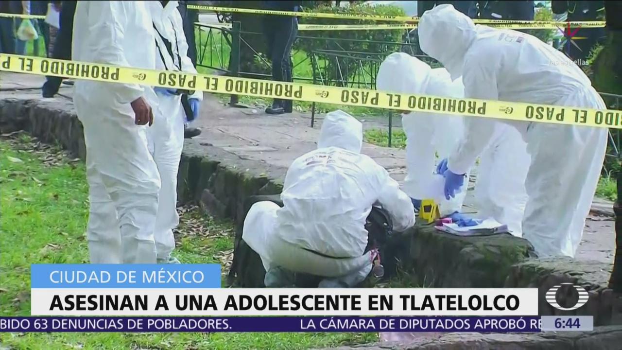 Niña de 14 años fue asesinada en Tlatelolco, buscan al asesino
