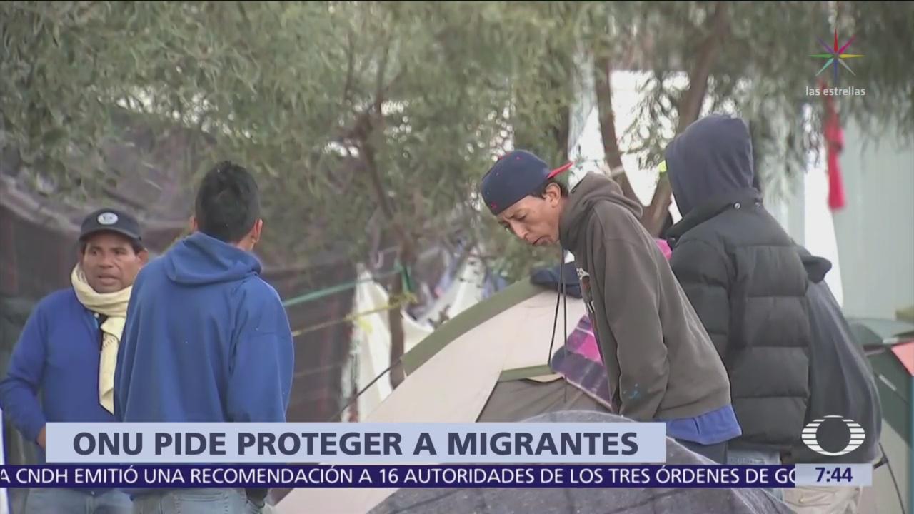 ONU pide a México y EU proteger derechos de los migrantes