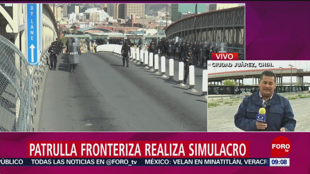 Patrulla Fronteriza Realiza Simulacro Contra Caravana Migrante