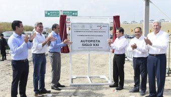 Peña Nieto entrega Autopista Siglo XXI en Morelos; destaca inversión en infraestructura carretera