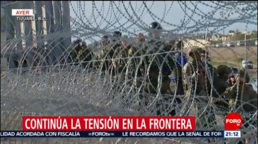 Policía Federal Resguarda Frontera Tijuana EU