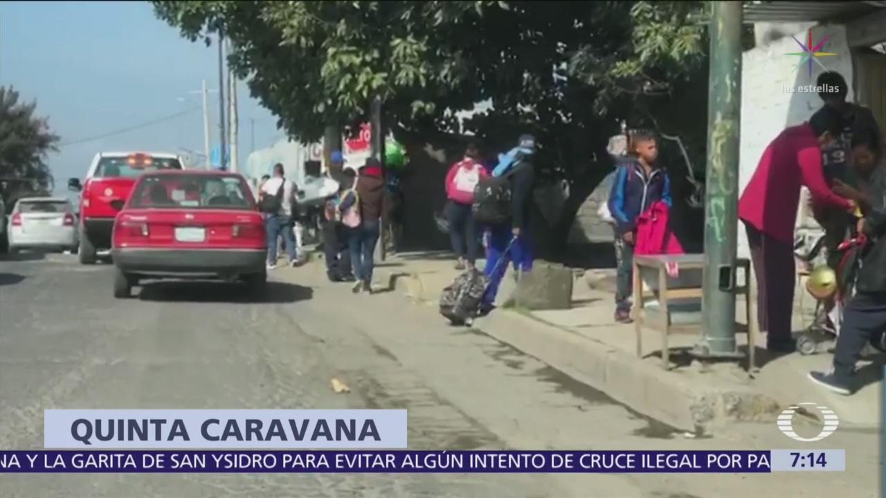 Quinta caravana de migrantes sale de El Salvador hacia México