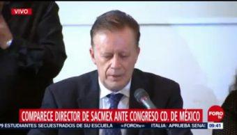 Ramón Aguirre Díaz comparece ante el Congreso de CDMX