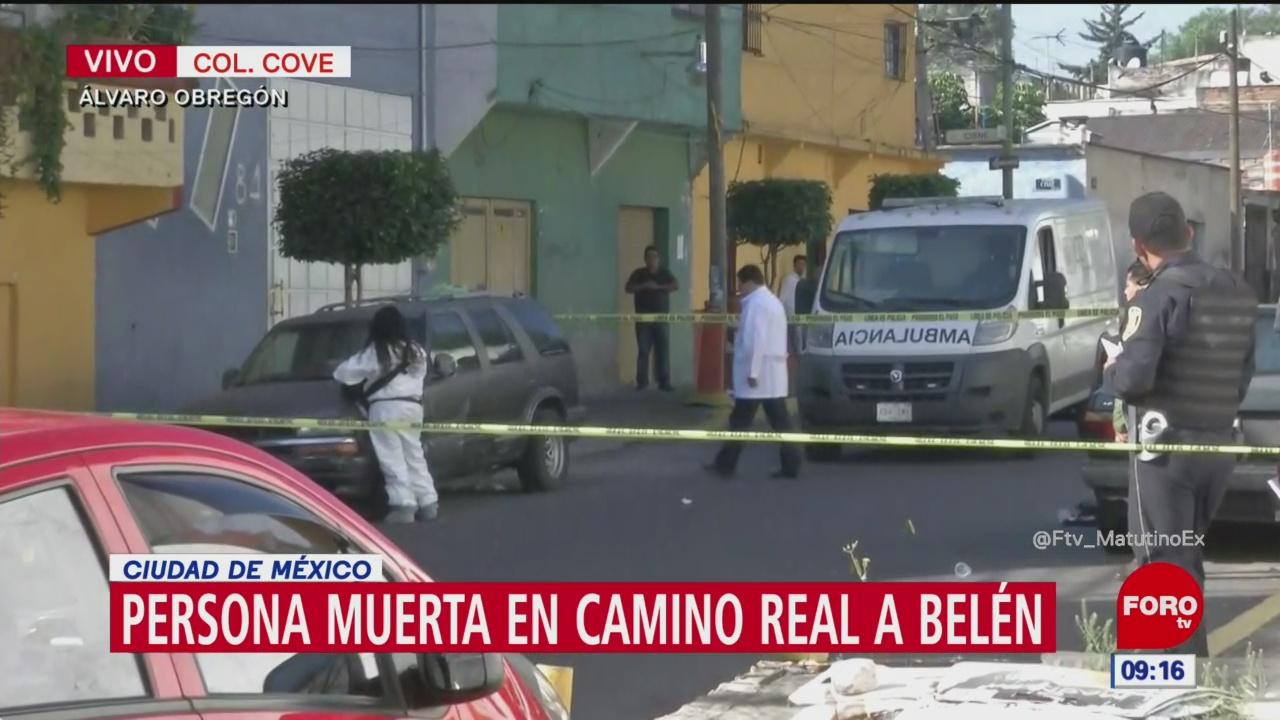 Reportan un muerto por disparos de arma de fuego en Álvaro Obregón