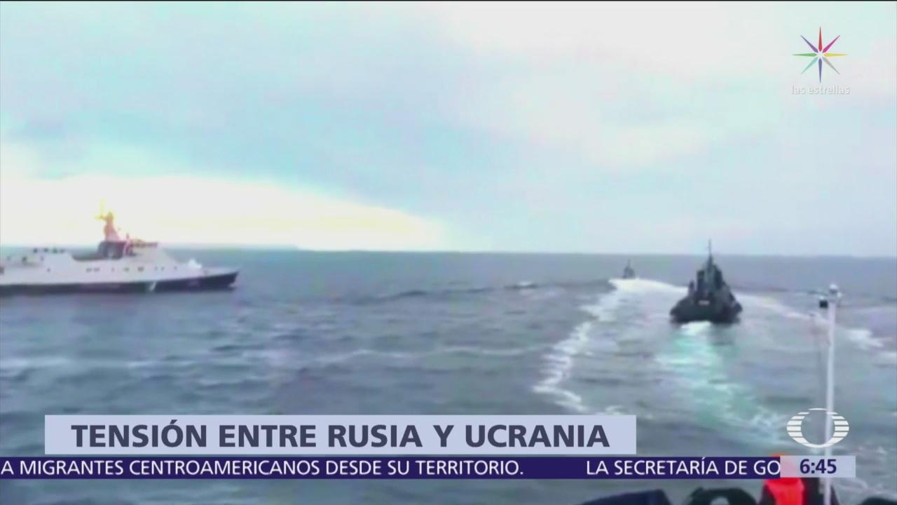 Rusia y Ucrania se enfrentan por incidente marítimo
