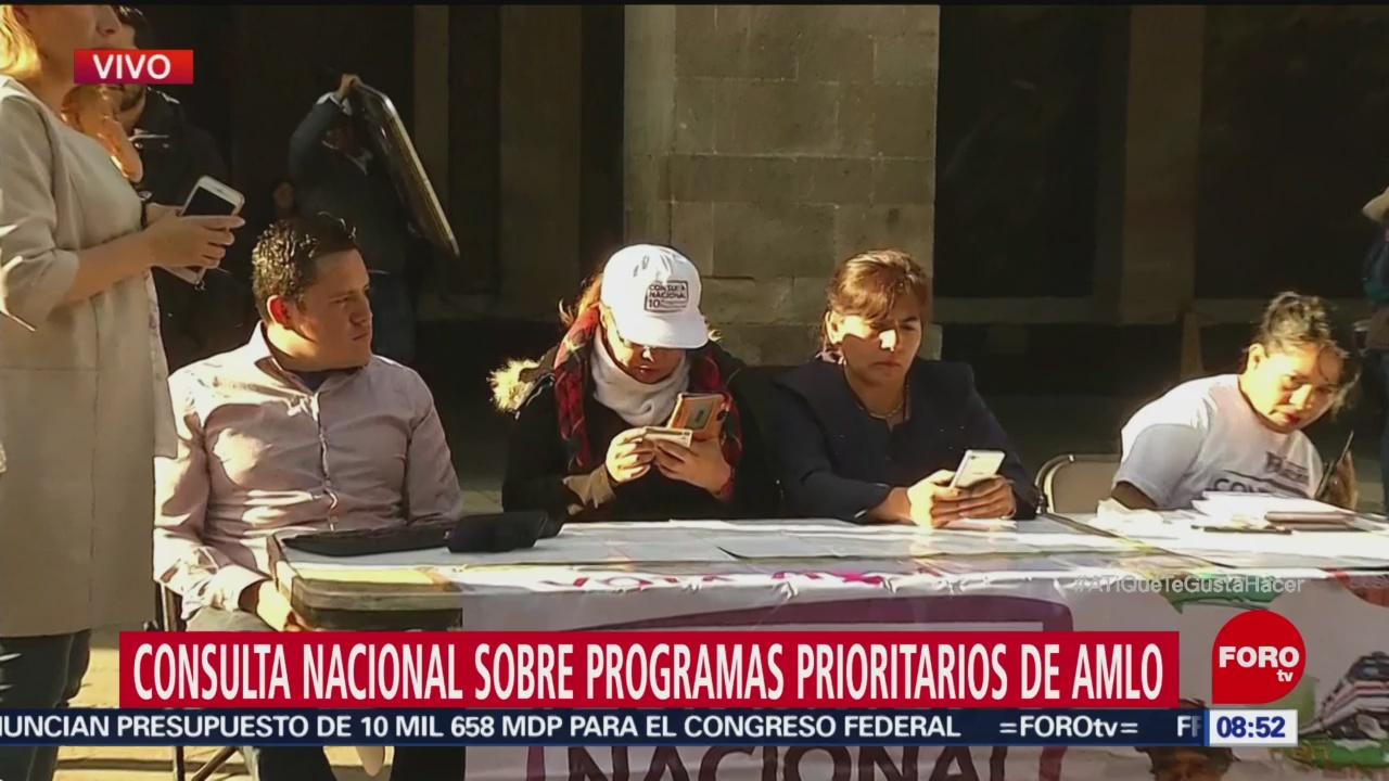 Realizan segunda consulta ciudadana convocada por AMLO