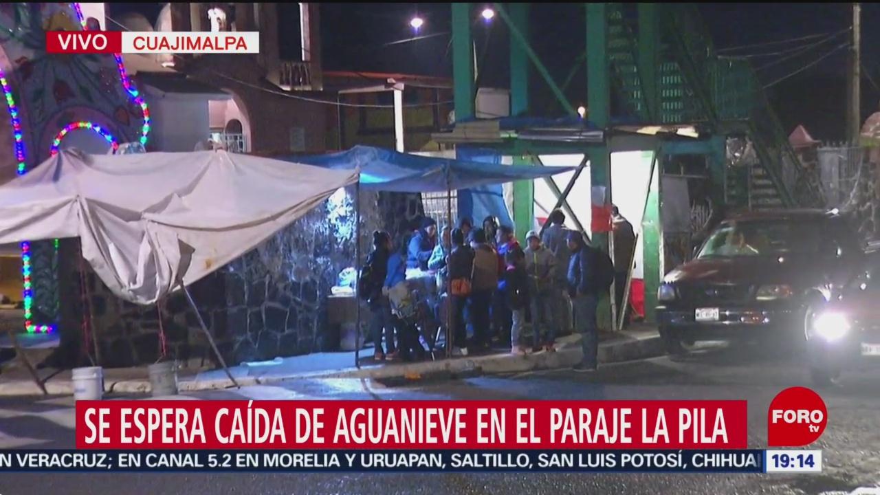 Espera Caída De Aguanieve En Cuajimalpa