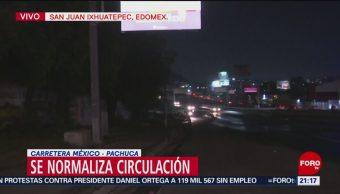 Se Normaliza Circulación Autopista México- Pachuca