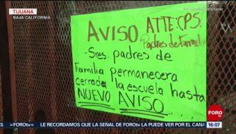 Suspenden clases en centro educativo de Tijuana, por riesgo sanitario