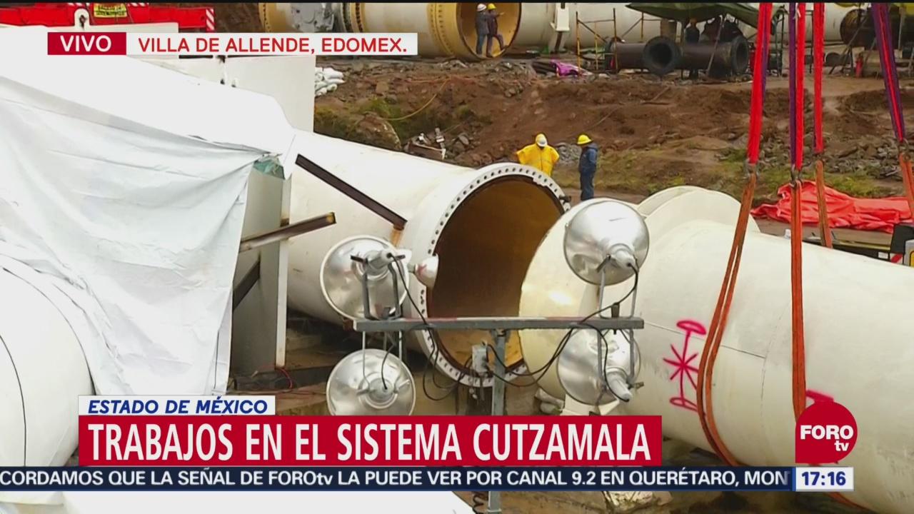 Trabajos de mantenimiento en el Cutzamala, con 60 de avance