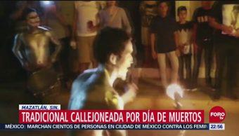 Tradicional Callejoneada Día De Muertos Mazatlán