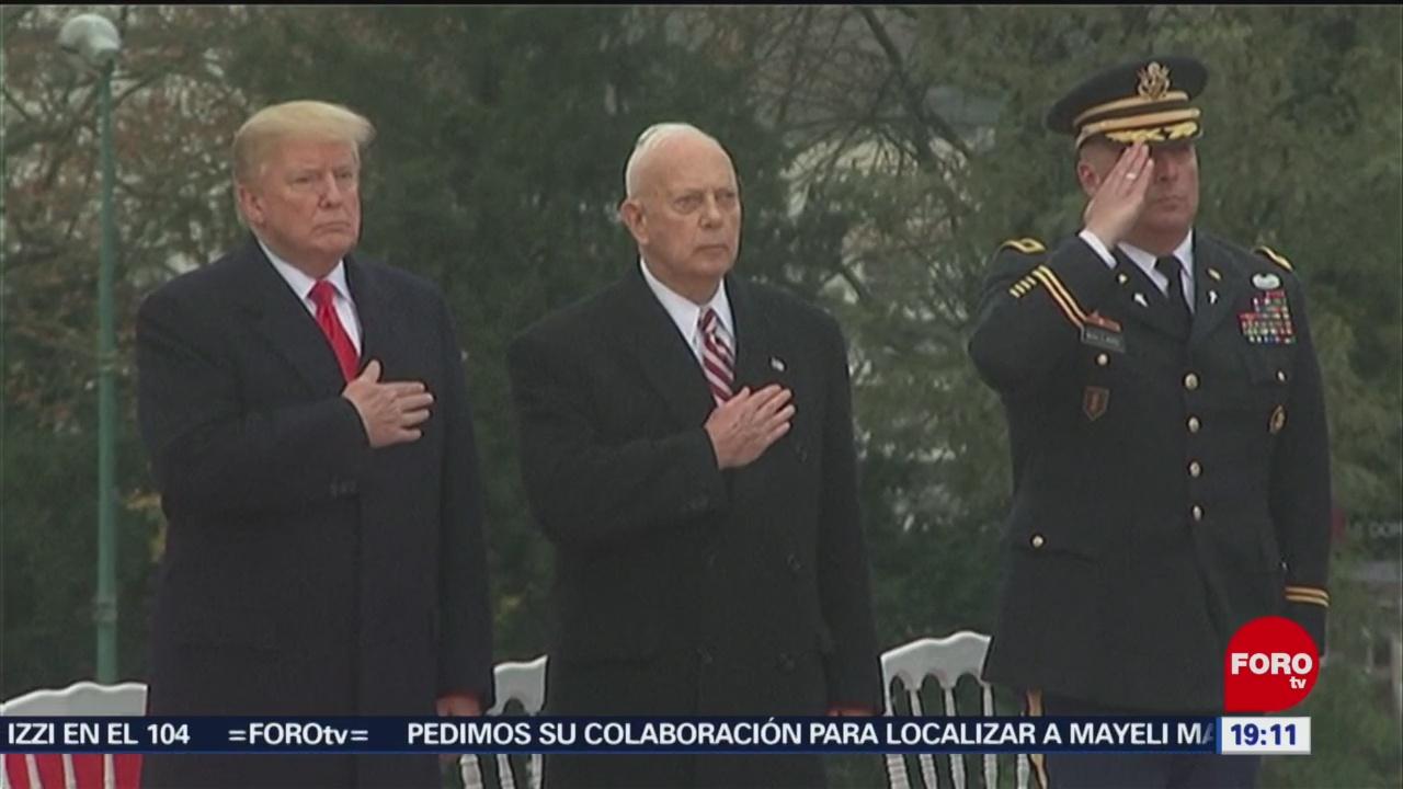 Trump homenajea a soldados en París, Francia