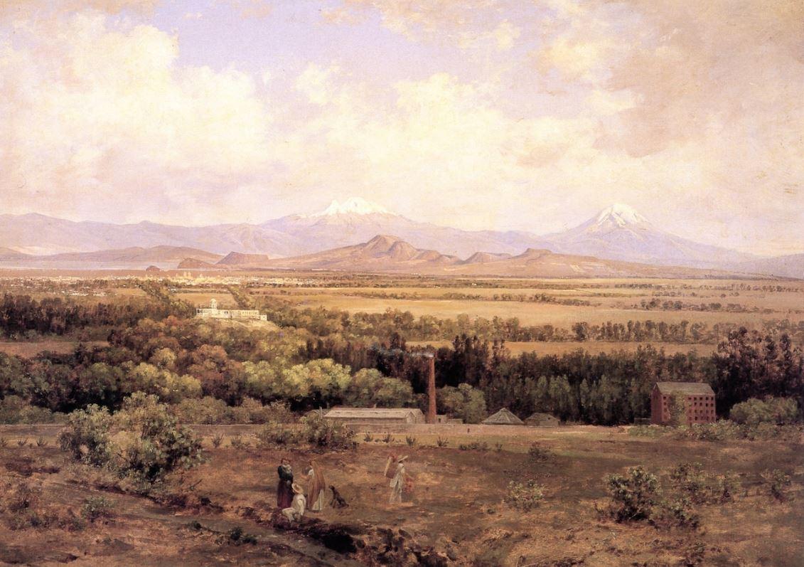 'Valle de México desde Molino del Rey' (1895), pintura del paisajista mexicano José María Velasco (WikiArt)