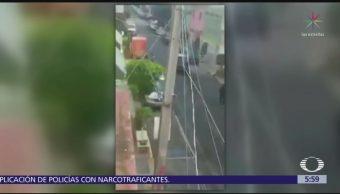Vecinos sorprenden a ladrones en Escuadrón 201, Iztapalapa
