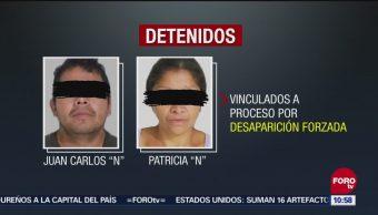 """Vinculan A Proceso Feminicidas De Ecatepec Edomex Juan Carlos """"N"""" Patricia """"N"""" Delito De Desaparición Forzada"""