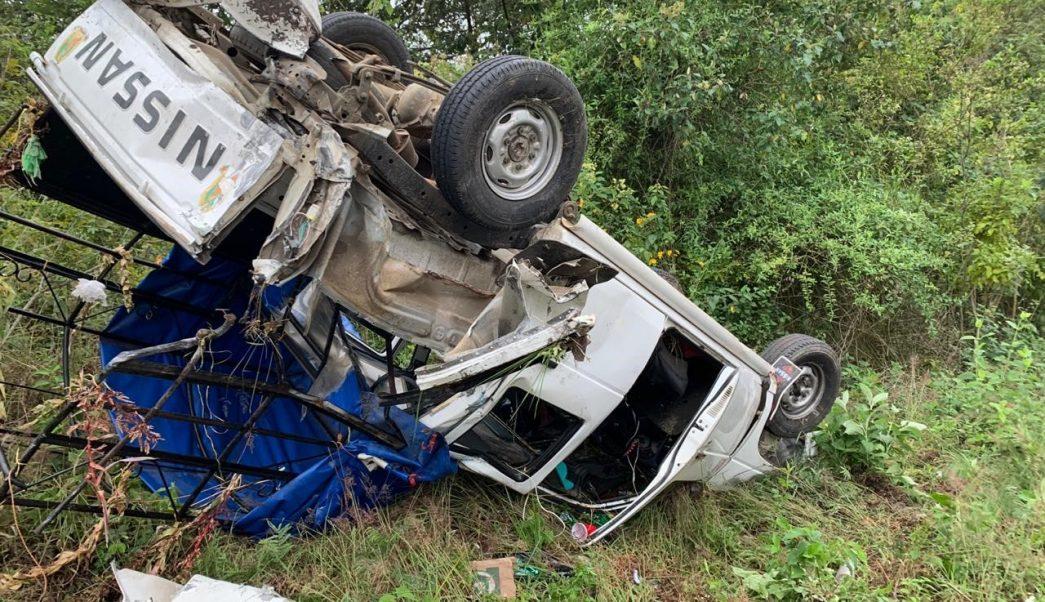 Al menos 19 peregrinos lesionados tras accidente vehicular en Chiapas