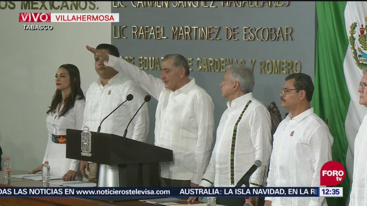 Adán Augusto López rinde protesta como gobernador de Tabasco