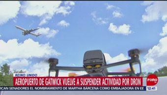 Aeropuerto de Gatwick suspende operaciones por dron