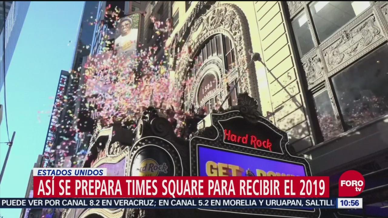 Así se prepara Times Square para recibir el 2019