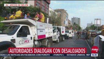 Autoridades dialogan con afectados por desalojo en Arcos de Belén