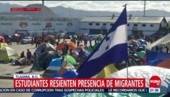 Cierran Secundaria De Tijuana Presencia De Migrantes Escuela Secundaria Tijuana, Migrantes Centroamericanos