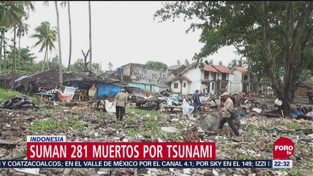 Cifra De Muertos Por Tsunami En Indonesia Aumenta A 281, Cifra De Muertos, Tsunami, Indonesia, 281 Muertos