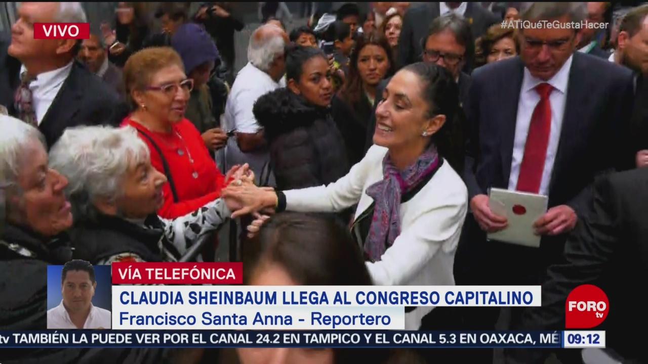 Claudia Sheinbaum llega al Congreso CDMX para toma de protesta