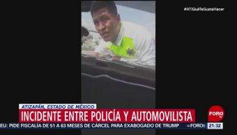 Conductor Arrastra Policía Tránsito En Atizapán