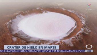 Cráter de hielo perpetuo en Marte