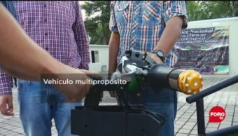 IPN crea vehículo eléctrico que circula en vialidades estrechas