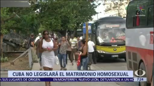 Cuba dice no al matrimonio entre personas del mismo sexo