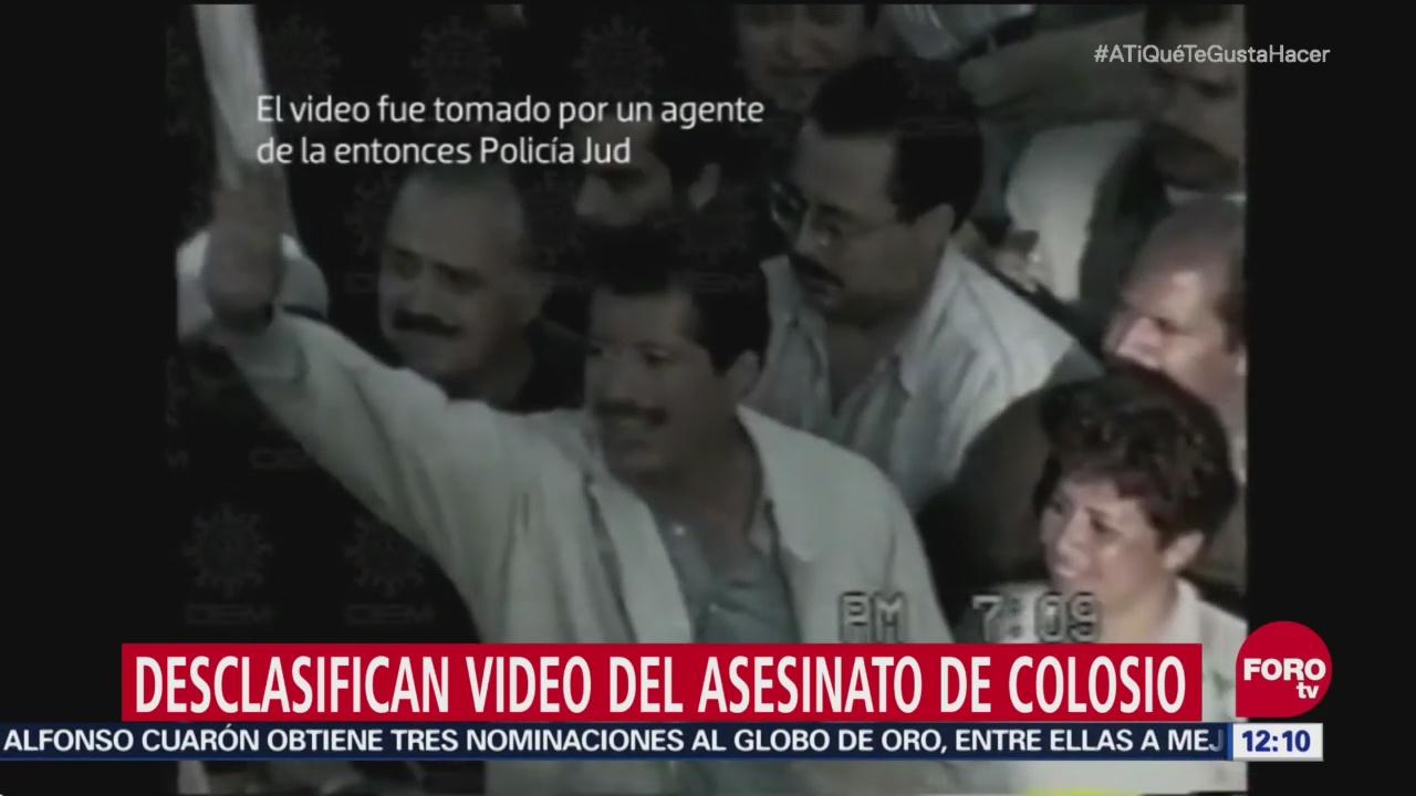 Desclasifican video del asesinato de Colosio