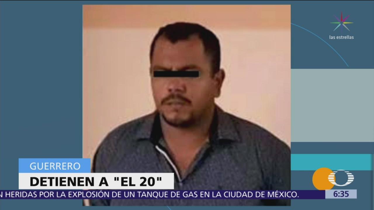 Detienen a 'El 20', líder criminal en Acapulco, Guerrero