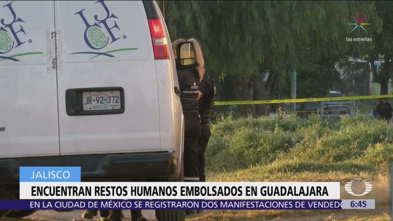 Encuentran restos humanos en 5 bolsas abandonadas en Guadalajara