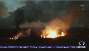 Incendio en Parque Cuemanco provoca más contaminación en la CDMX
