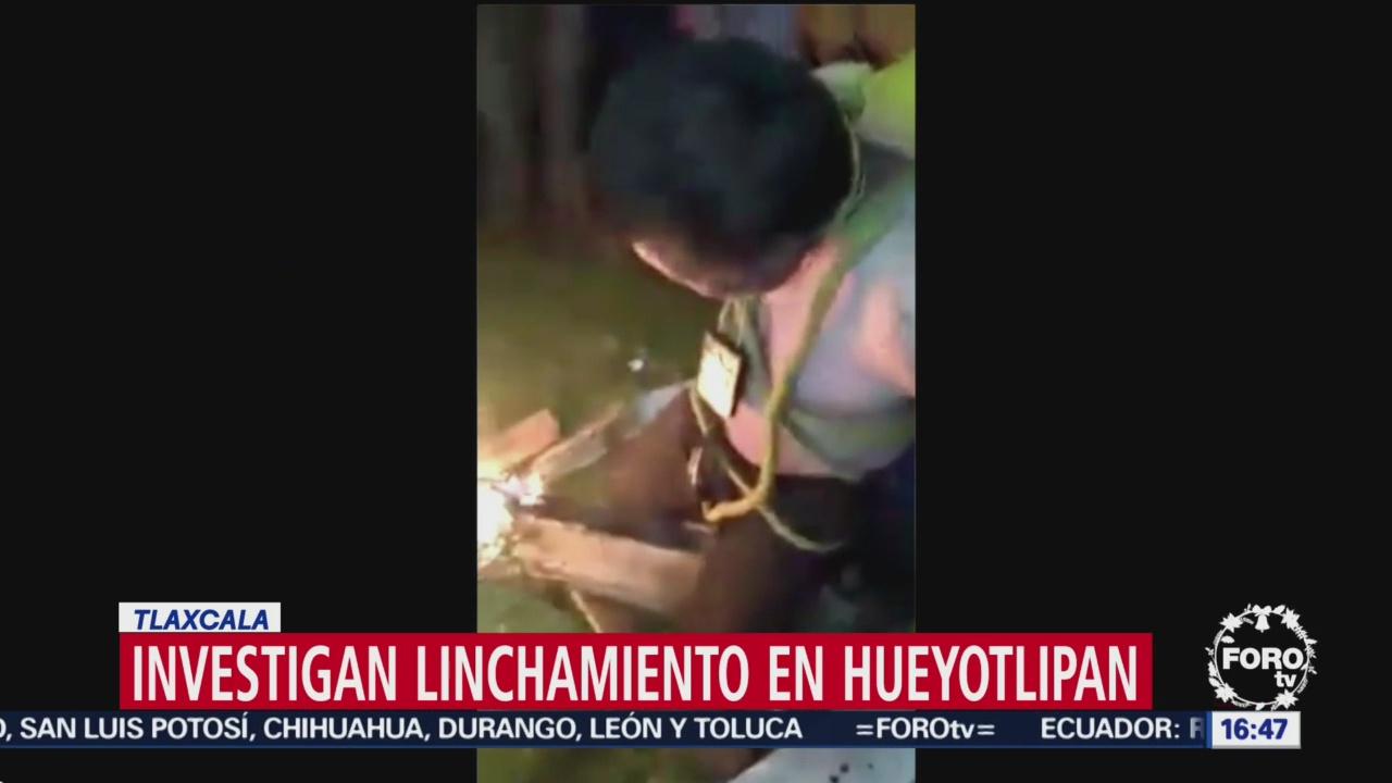 Investigan linchamiento de un hombre en Tlaxcala