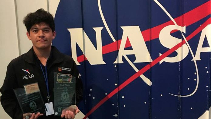 Jonathan Sánchez recibió el segundo lugar en el Air and Space Internacional Program 2017 de la NASA (Universidad Politécnica Metropolitana)