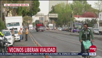 Liberan circulación en Av. Arcos de Belén tras 30 horas de bloqueo