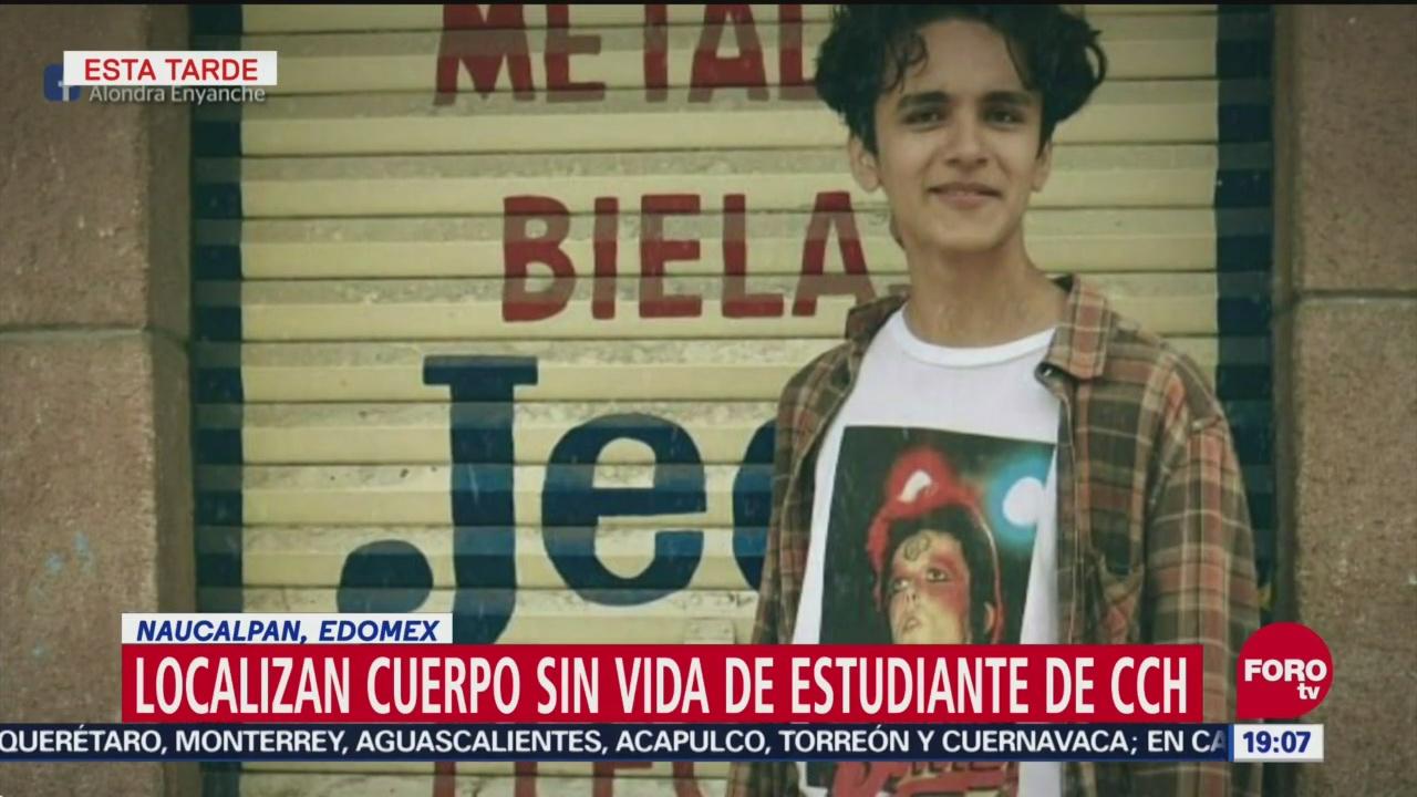 Localizan Cuerpo Sin Vida Estudiante Cch-Naucalpan