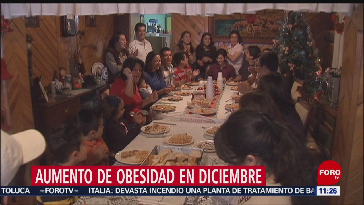 Los riesgos de comer en exceso en diciembre