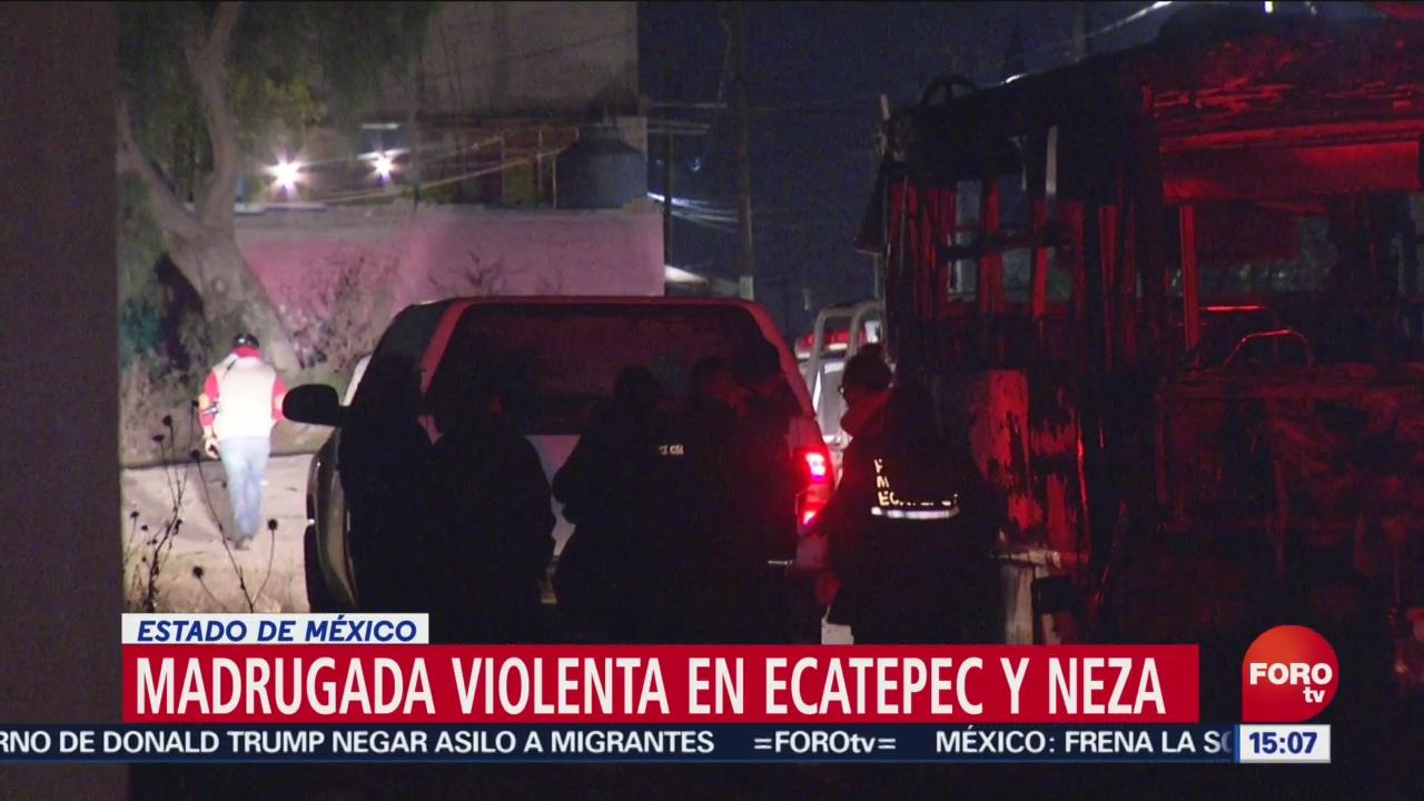 Madrugada violenta en Ecatepec y Neza, Estado de México, Madrugada violenta, Ecatepec, Neza, Estado de México, Nezahualcóyotl