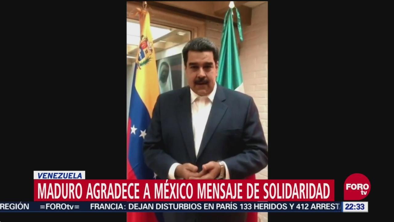 Maduro agradece a México mensaje de solidaridad