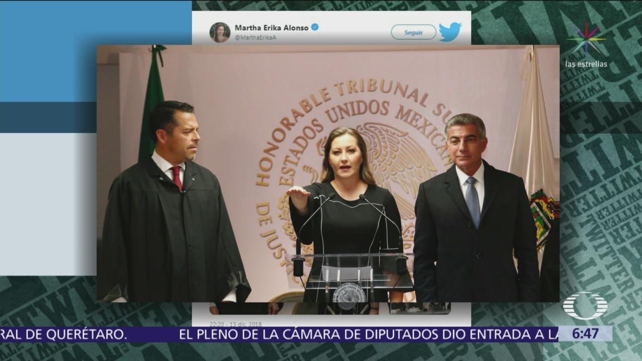 Martha Erika Alonso rinde protesta como gobernadora de Puebla