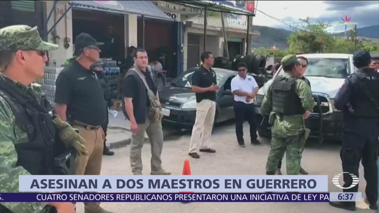 Matan a dos maestros en Tlacoachistlahuaca, Guerrero
