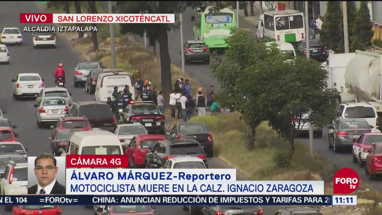Muere motociclista en la calzada Ignacio Zaragoza